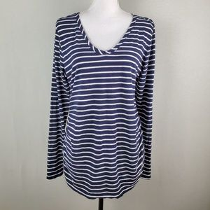 Isabel Maternity Ruched Side Striped Top XL